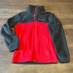 Columbia Fleece Full Zip Jacket Youth Small